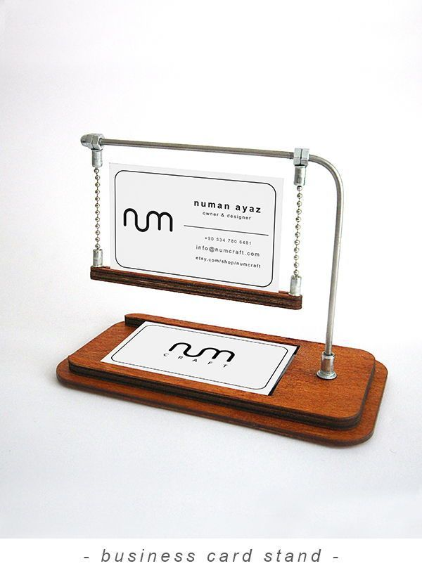 Walnut Business Card Stand Business Card Holder For Desk Etsy Business Card Stand Business Card Displays Business Card Holders