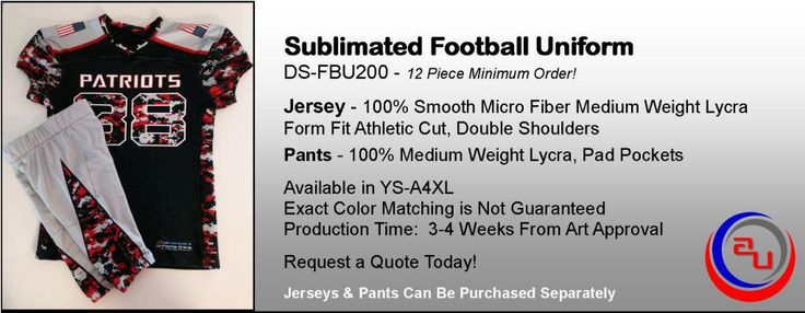 SUBLIMATED YOUTH FOOTBALL UNIFORMS, AFFORDABLE UNIFORMS ONLINE