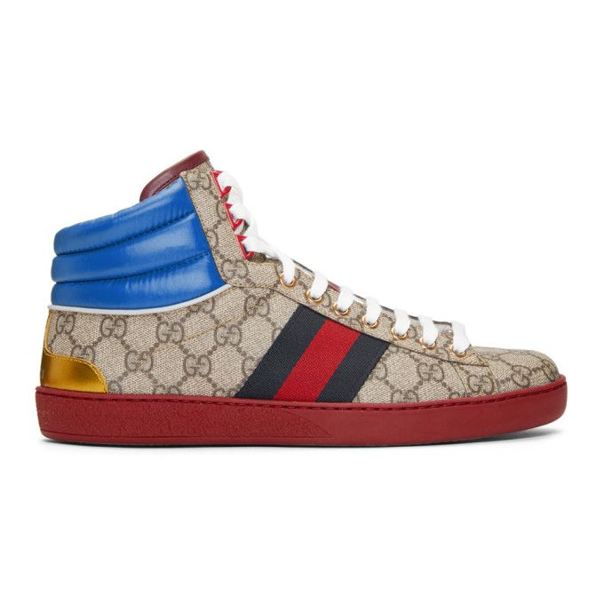 Gucci New Ace Gg Supreme Leather And