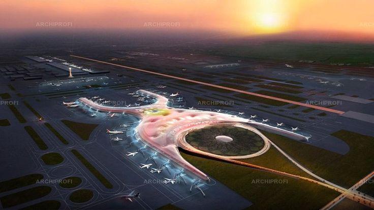 Норман Фостер объединился с Фернандо Ромеро для создания аэропорта в Мехико-сити.