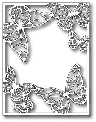 memory box die drifting butterfly frame2599