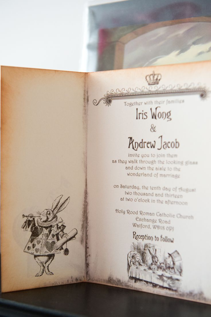 The 43 best Alice in Wonderland Themed Wedding Stationary images on ...