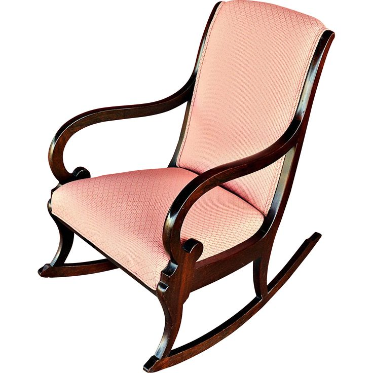 Rocking Chair with Upholstered Back, Seat & Rear  Rocking chairs ...