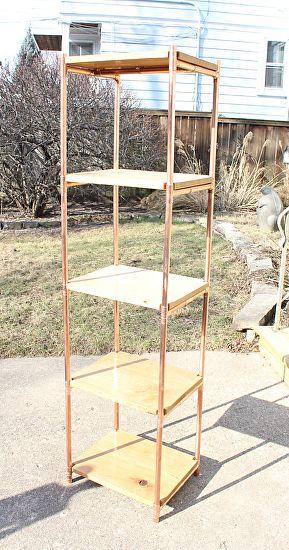 White Oak U0026 Copper Pipe Tower Book Shelves By Paul Segedin And Urban  Prairie Design.