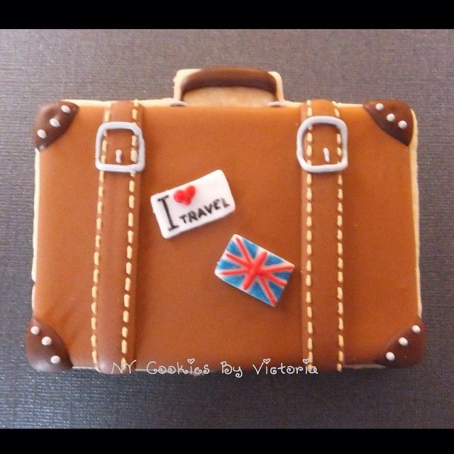 Simply a Suitcase Cookie for a Birthday Party Celebration for a Guy who Simply #lovestotravel #birthday #birthdayparty #lovetotravel #lovetotraveltheworld #birthdaythemeparty #birthdaycookie #cookies #galletasdecoradas #igtravel #instatravel #instapassport #instatraveling #Suitcase #maleta #maletas #NYCookies #NYCookiesByVictoria #trip #travel #tourist #TFLers #travels #traveler #traveling #traveller #travelgram #travelling #turista
