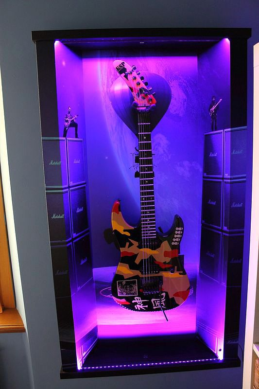 "Wall guitar display ""Concert For The Aliens"""