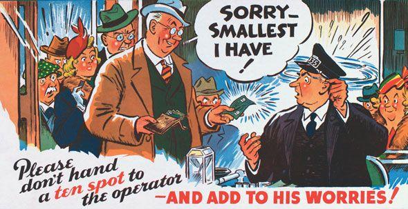 ttc subway cards advertisements ten spot bill