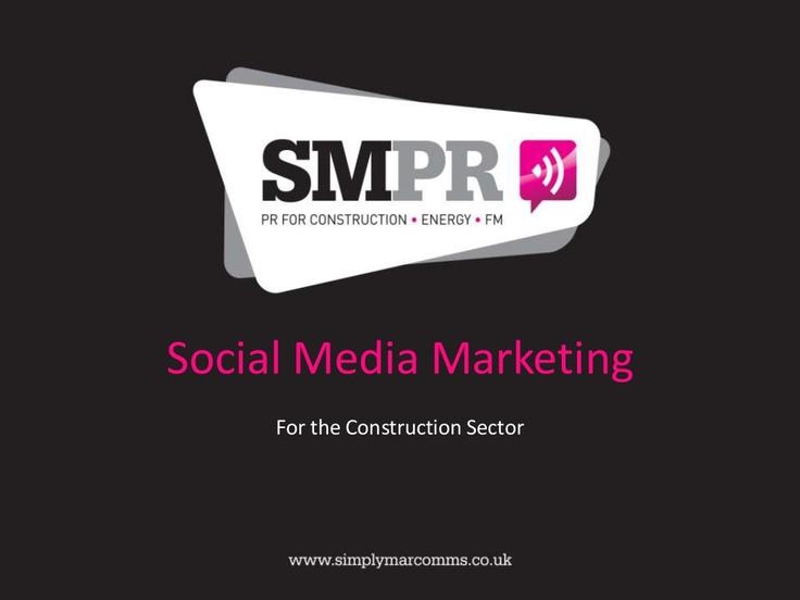 Social Media Marketing Services for Construction
