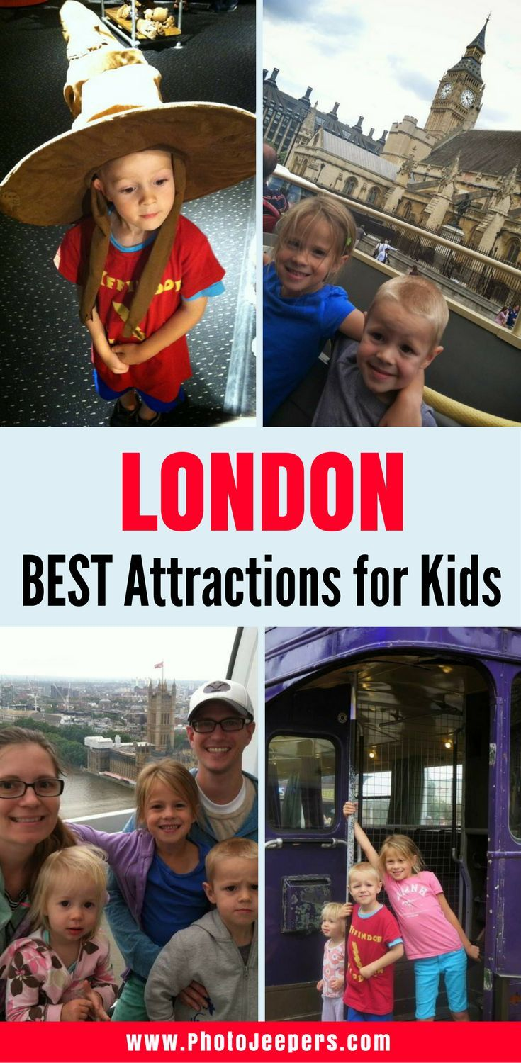 Travel to London with kids? Yes! There are many things to do in London with kids. We did a lot of planning and research to make sure the trip to London was both fun, and feasible, with the kids. We skipped the traditional museums and boring historical sights; instead, opting for a more kid-friendly approach to London. Here are some general tips and our favorite activities for visiting London with kids. Don't forget to save this London guide to your travel board!