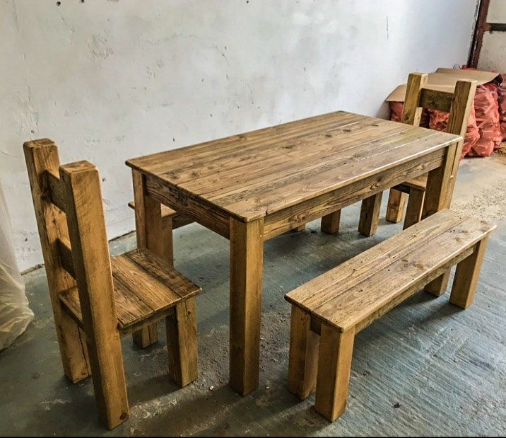 34++ Solid pine dining table and bench Best Choice