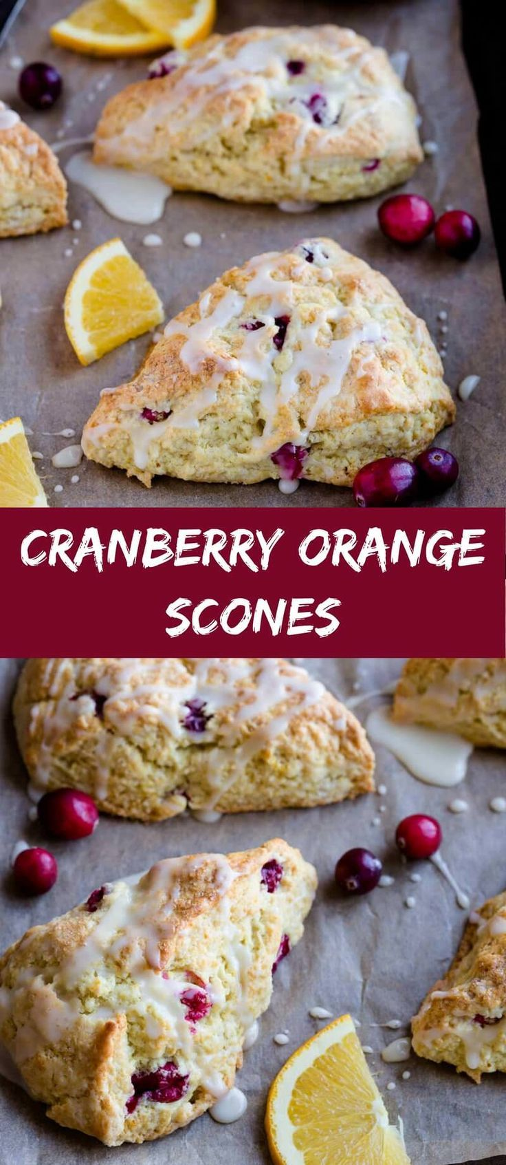 These Cranberry Orange Scones are the best fall scones you'll ever have! This recipe yields tender, flaky, and ultra-moist scones. #cranberry #orange #scones