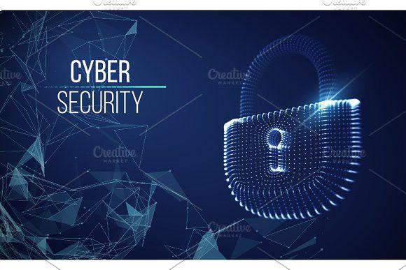 Coputer internet cyber security background. Cyber crime vector illustration. digital lock #cyber #cybercrime