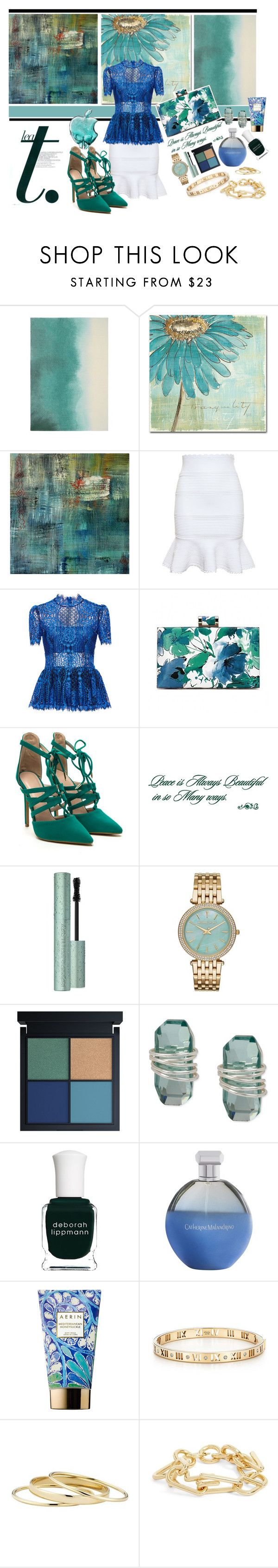"""Lace and Lollipops"" by bettyboopbbw69 ❤ liked on Polyvore featuring Unitex International, Trademark Fine Art, NOVICA, Alexander McQueen, Alexis, Too Faced Cosmetics, Michael Kors, Robert Lee Morris, Deborah Lippmann and Catherine Malandrino"
