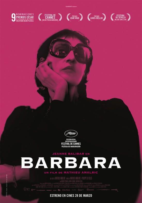 Barbara es una película de cine dirigida por: Mathieu Amalric. Interpretada por: Mathieu Amalric, Jeanne Balibar, Vincent Peirani, Fanny Imber, Aurore Clément, Grégoire Colin, Lisa Ray-Jacobs...
