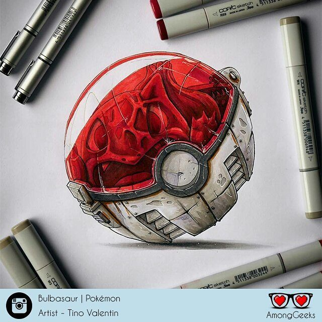 Real Pokeballs . . . #bulbasaur #pokemon #pokemonart #pokeart #Draw #Drawing #Art #Fanart #Artist #Illustration #Design #sketch #doodle #Geekart #Arthelp #Anime #Manga #Otaku #Gamer #Nerdy #Nerd #Comic #Geek #Geeky