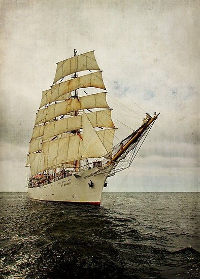 "The Polish three mastet barque ""Dar Młodzieży""  by smilyjay"