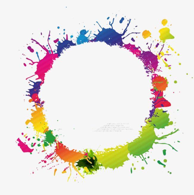 Border Color Ink, Color Circle Frame, Ink Border, Round