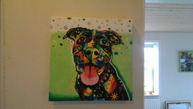 Colorful pitbull by LBClausen