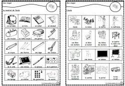 Lexique de l'école, imagier, Cp, Ce1, Cycle2, Dixmois