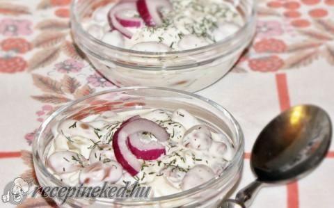 Babsaláta, hamis majonézzel recept fotóval