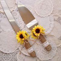 Country rustic sunflower wedding theme ideas (3)