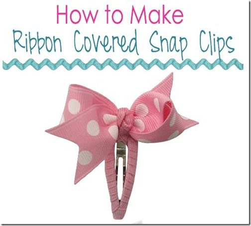 How to Make Ribbon Covered Snap Clips by The Ribbon Retreat