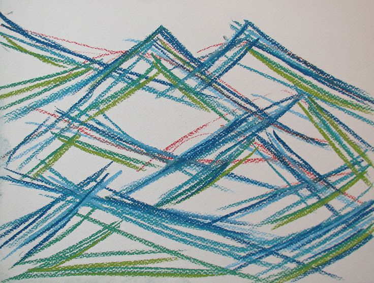 Mountains in Japan #art #pastels #drawing #mountain #abstract #japan