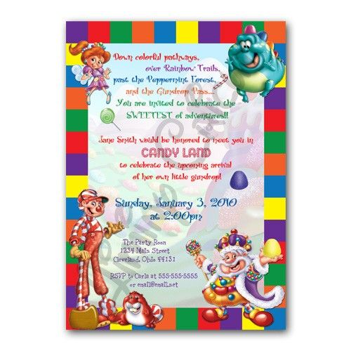 Personalized CANDYLAND Birthday or Shower Invitation Digital File PRINTABLE