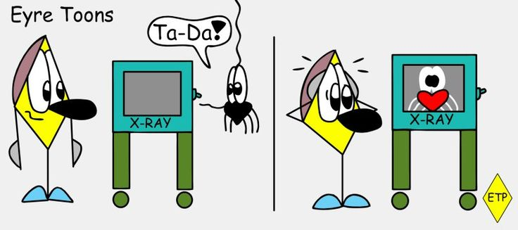 Eyre Toons - X-Ray Double D - Diaman - Double D The Spider - Heart - Funnycomic - Cute