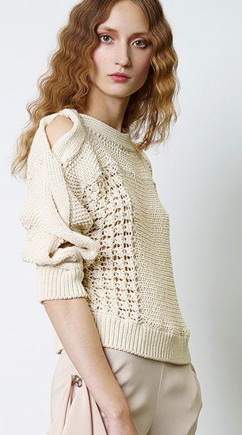 Jean Paul Gaultier. Details Resort 2014..... #crochet_inspiration ......