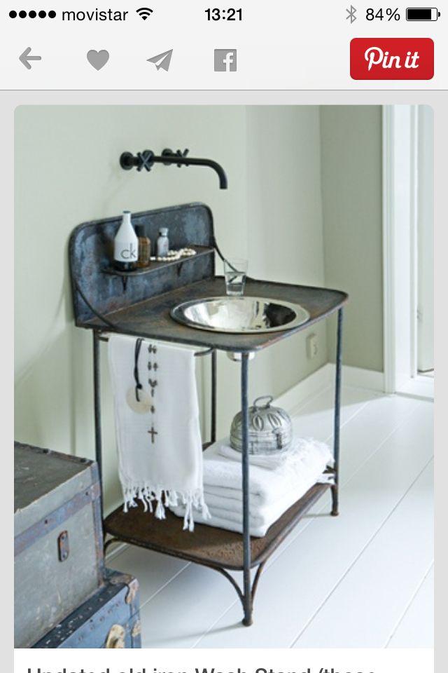 36 best antique wash stands images on pinterest antique for Man cave bathroom sink