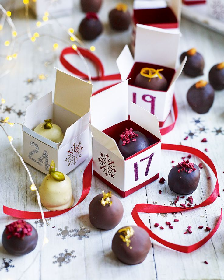 Make the count down to Christmas extra special with homemade advent calendar truffles. This is a great recipe to make with kids, just make sure you've got 24 left!