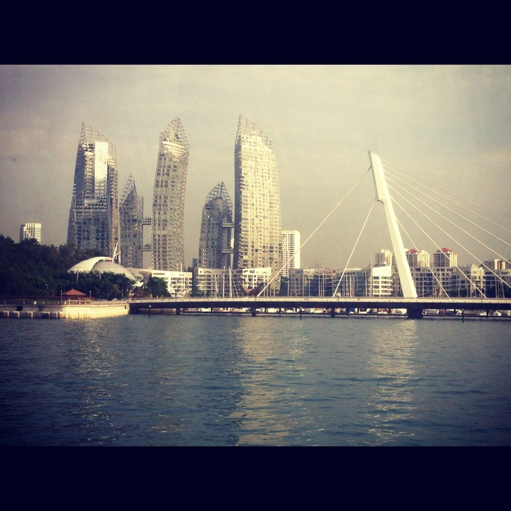 Singapore from ferry to Batam Indonesia