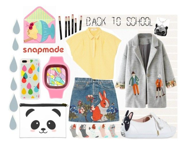 SNAPMADE me do it ♡ by gpatricia on Polyvore featuring polyvore fashion style MANGO WithChic Gucci John Lewis Kate Spade BD Fine Wallcoverings clothing