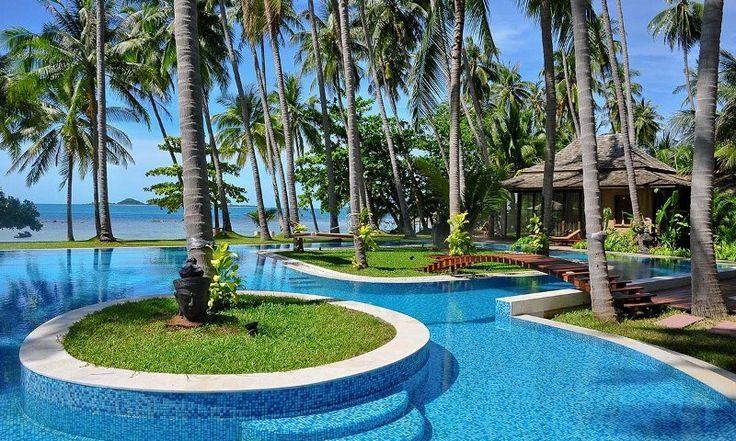 Villa Kalyana is an exclusive beachfront private villa estate, within a private bay, on Koh Samui's idyllic south shore.
