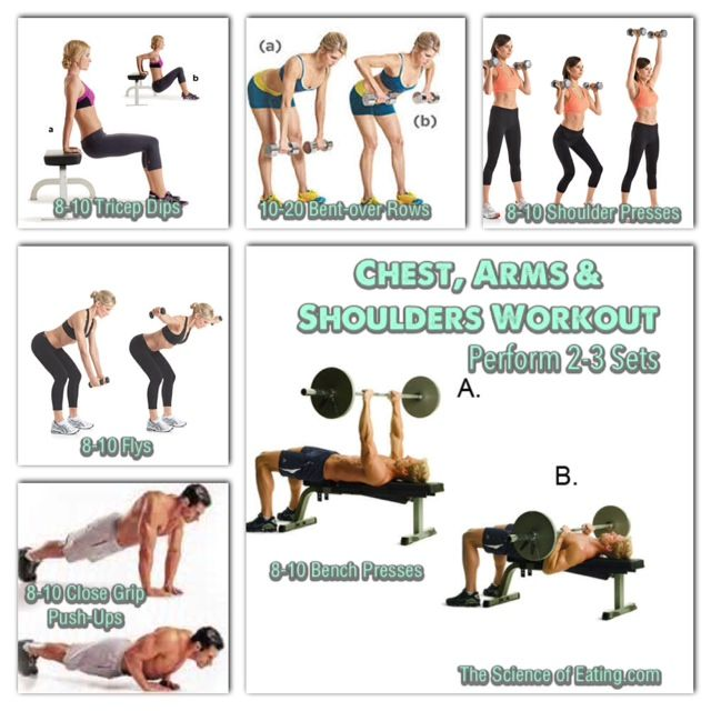 Upper body, Exercise routines and Build muscle on Pinterest
