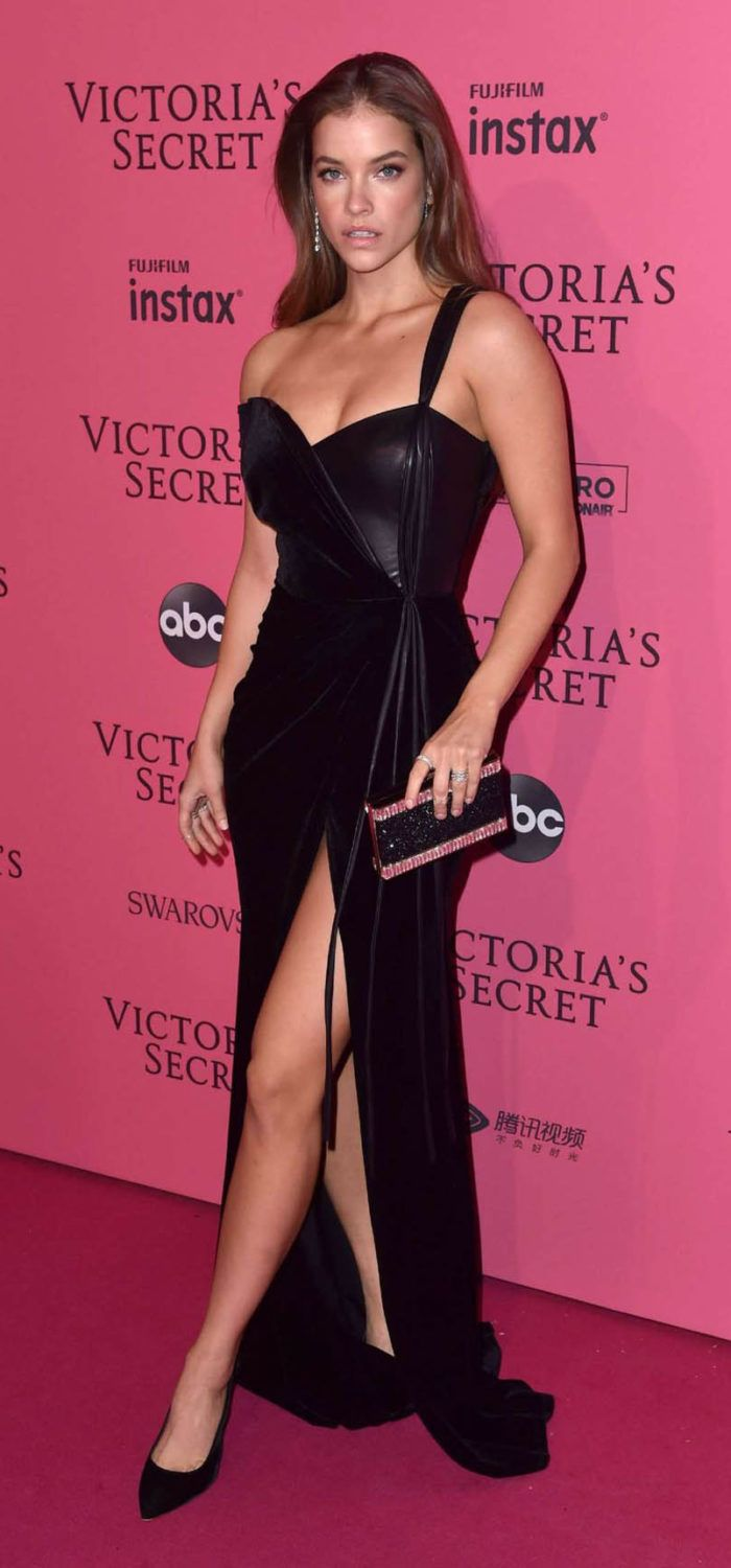 bde57a2a418 Barbara Palvin in Wide Opened Dress at 2018 Victoria s Secret Fashion Show  After Party in NY