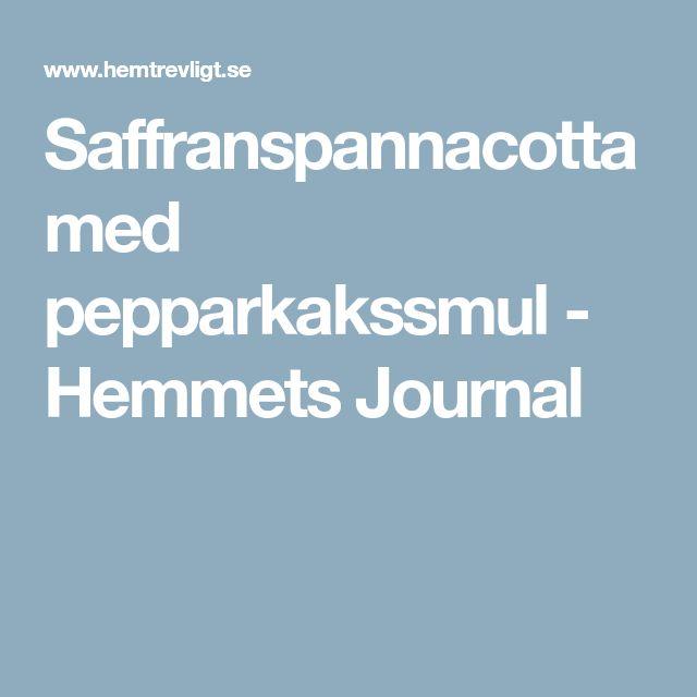 Saffranspannacotta med pepparkakssmul - Hemmets Journal