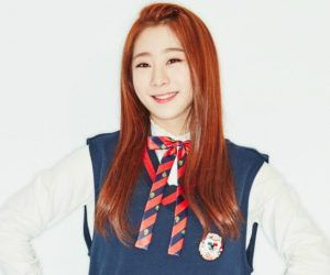 """I.O.I's Yeonjung """"Dream Girl"""" promotional picture."""