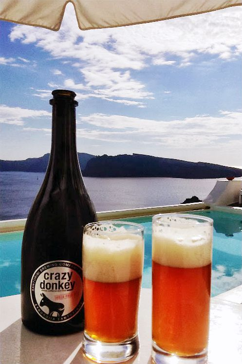 Santorini's Crazy Donkey Beer