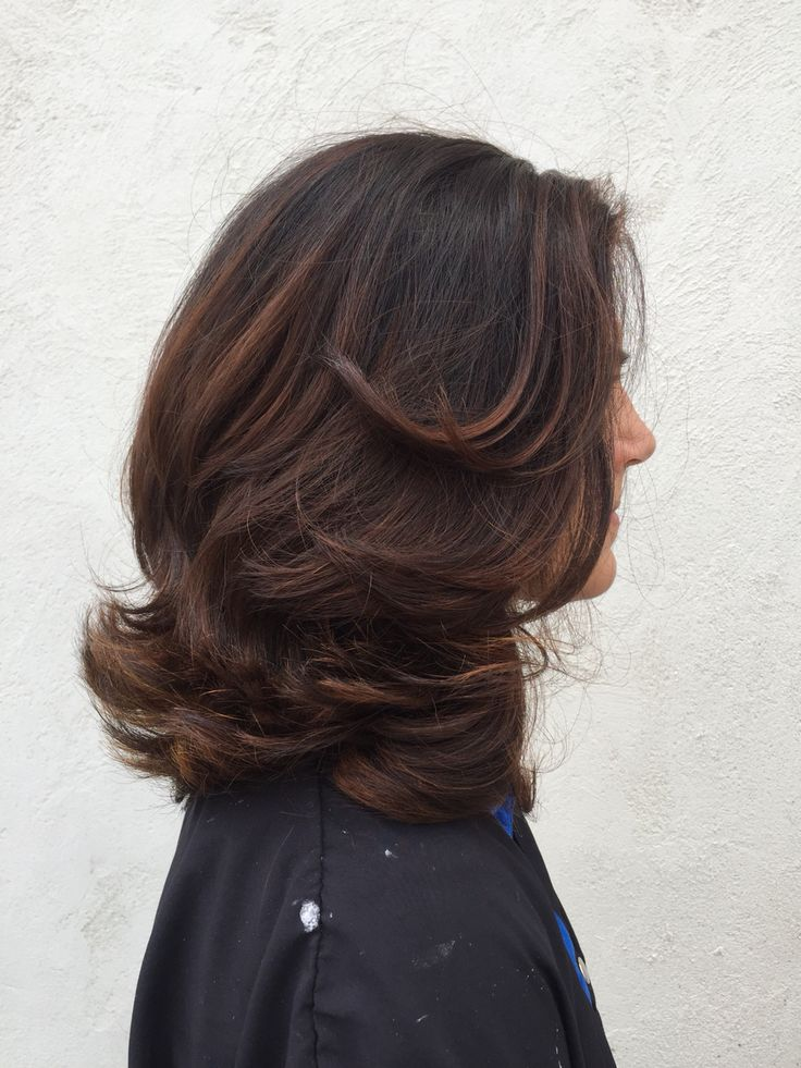 Subtle hazelnut Balayage at Southern Roots Salon