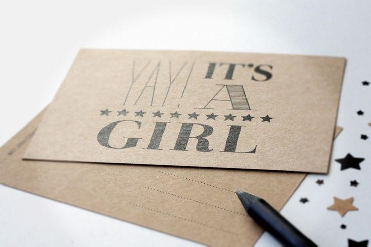 Kaart meisje #hoera #meisje #geboorte #baby
