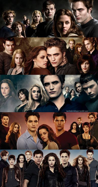 Cullens, twilight through breaking dawn