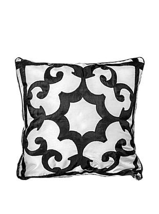 75% OFF Polysatin Pillow, Black/White