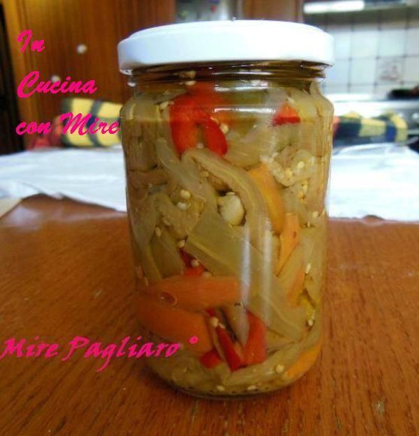 #gialloblogs #ricetta Giardiniera di melanzane | In cucina con Mire