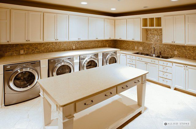 OMG-double washer and dryer. This would have been wonderful when the kids were little or when I had to wash turnouts every week for three horses