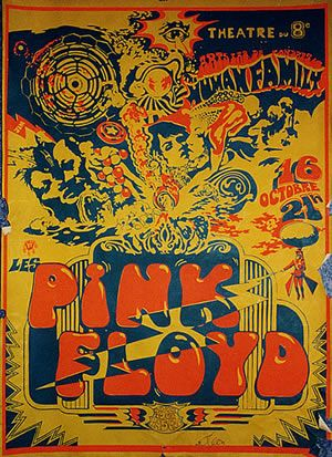 Premier concert des Pink Floyd en France, à Lyon, au théâtre du 8e , le 16 octobre 1968