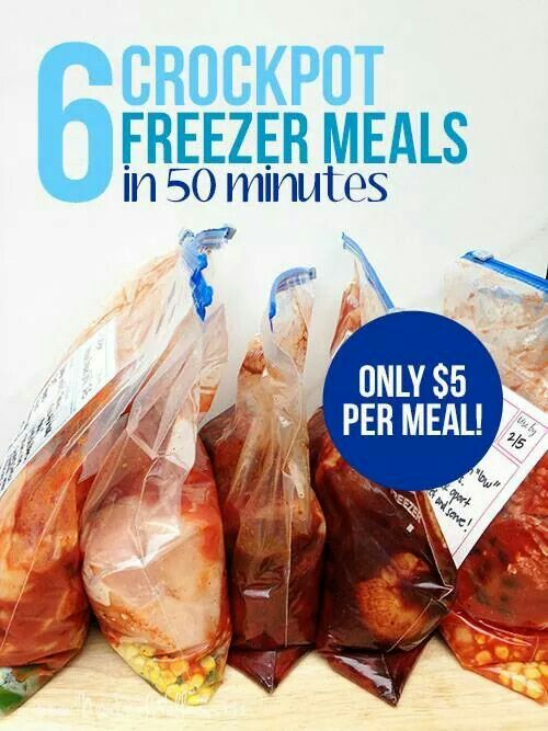 5 Crockpot meals in 50 minutes