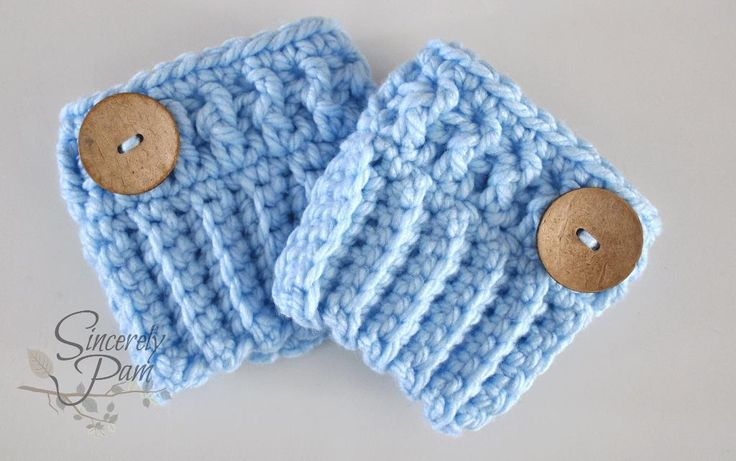 (4) Name: 'Crocheting : Chunky Boot Cuffs