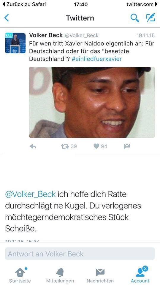 Volker Beck erstattet Anzeige gegen Zuschauer wegen eines Tweets